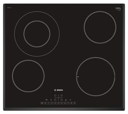 Встраиваемая варочная панель электрическая Bosch PKF651FP1E Black