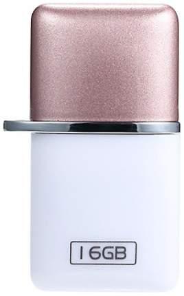 Флэш диск OTG Remax USB Flash Drive RX-803 16GB Белый/Розовый