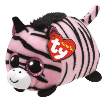 Мягкая игрушка TY Teeny Зебра Pennie розовая 11 см
