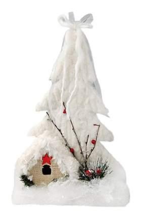 Фигурка под елку Новогодняя сказка Снежный городок 25 см 973017