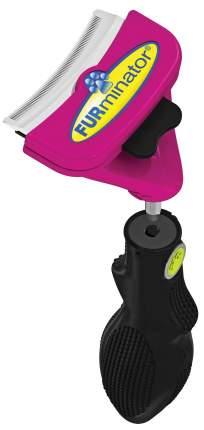 Фурминатор для кошек FURminator®, длина шерсти короткая, длинная, черный, розовый
