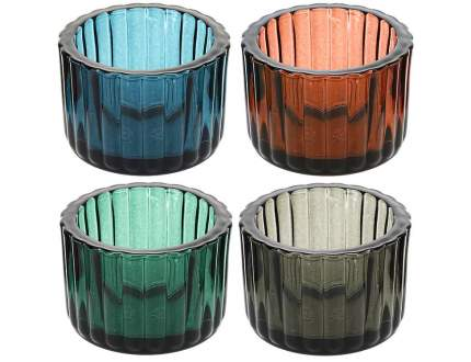 Koopman Набор подсвечников для чайной свечи Скаген, 4 шт, стекло ASH501500