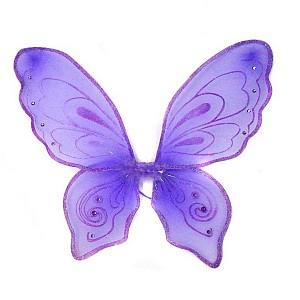 Новогодняя сказка Приставные крылья бабочки 57х49 см фиолет Новогодняя сказка