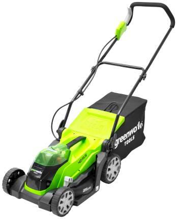 Аккумуляторная газонокосилка GreenWorks G-MAX 40V 35 см
