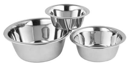 Одинарная миска для собак Ankur, сталь, серебристый, 1.6 л