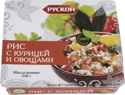 Рис Рускон с курицей и овощами 250 г