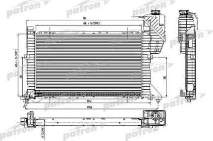 Радиатор охлаждения двигателя PATRON PRS3118