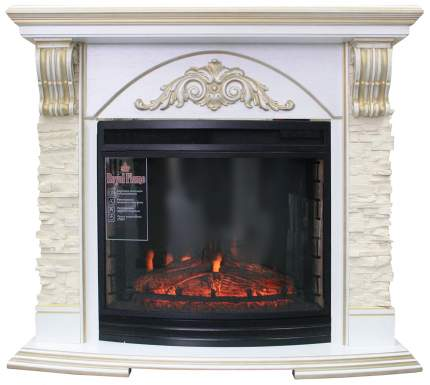 Электрокамин Royal Flame Rimini, белый дуб/патина золото