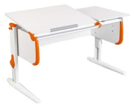 Парта Дэми White Double СУТ-25 С раздельной столешницей Белый/Оранжевый