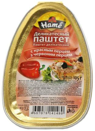 Паштет Hame деликатесный с красным перцем 105 г
