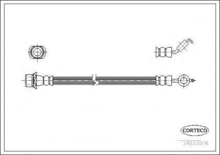 Шланг тормозной Corteco 19033076