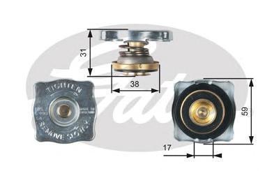 Крышка системы охлаждения Gates RC130