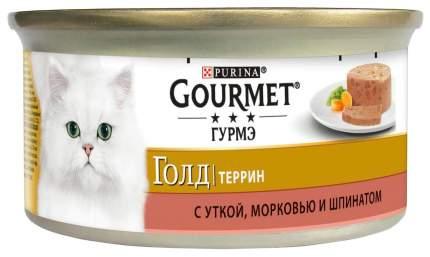 Консервы для кошек Gourmet Gold, утка, 24шт, 85г
