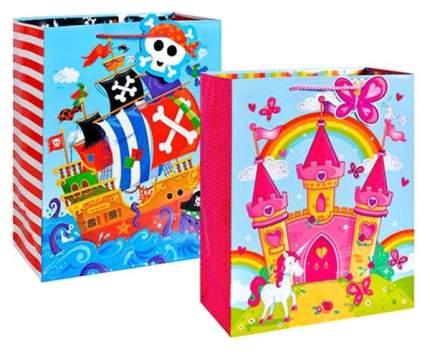 Пакет подарочный бумажный Замок/Пиратский корабль (в ассортименте) TZ14033 (32x26x12 см)