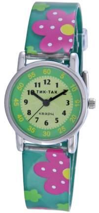Детские наручные часы Тик-Так Н101-1 зеленые цветы