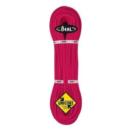 Веревка динамическая Beal Stinger Iii Golden Dry Unicore 9,4 мм, розовая, 60 м