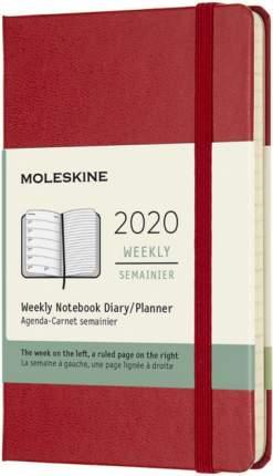 """Еженедельник датированный на 2020 год """"Classic"""" WKNT Pocket, 144 страницы, красный"""