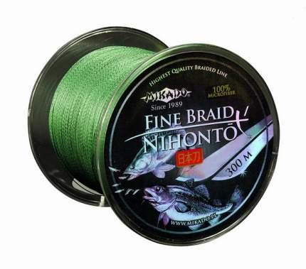 Шнур плетеный Mikado Nihonto Fine Braid Green 0,2 мм, 300 м, 16,6 кг