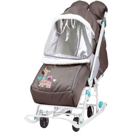 Cанки-коляска Ника Наши детки 2 Жираф шоколадный