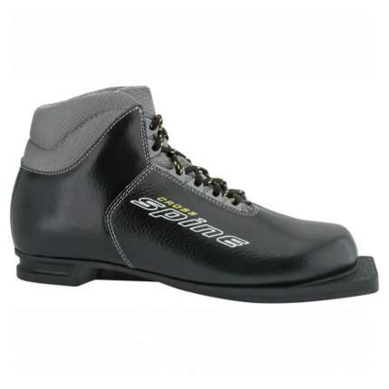 Ботинки для беговых лыж Spine Cross 2020, black, 33