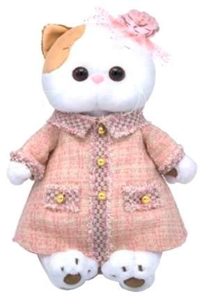 Мягкая игрушка «Кошечка Ли-Ли» в розовом костюме в клетку, 27 см Басик и Ко
