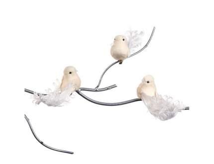Елочная игрушка Goodwill Птичка с кудряшками на клипсе SA 45027 15 см 1 шт. в ассортименте