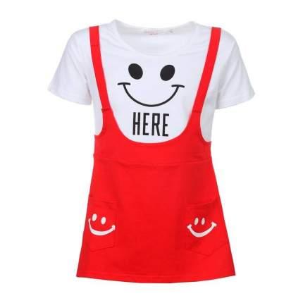 Платье Happy Bear, цв. красный, 74 р-р