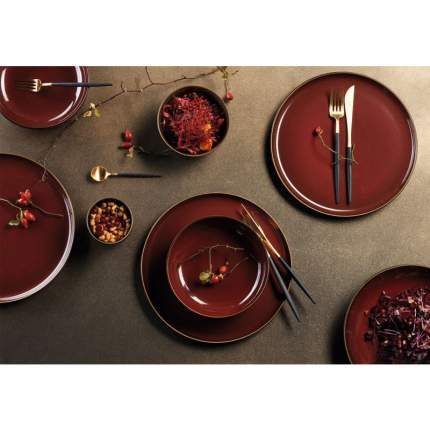 Тарелка обеденная Asa Selection Kolibri, 24см, цвет терракотовый