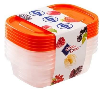 Набор контейнеров для еды Good&Good OneTouch 5х1,1л