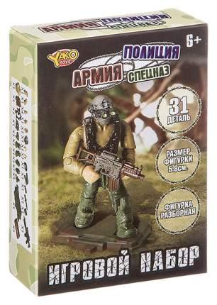 Конструктор пласт. 31 дет., набор серии Армия, Полиция, Спецназ,разборная фигурка солдата