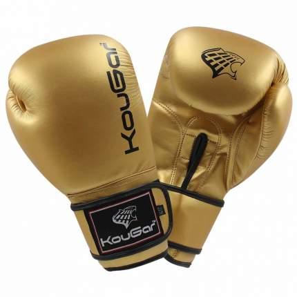 Боксерские перчатки Kougar KO600 золотистые 8 унций