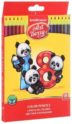 Карандаши цветные шестигранные ArtBerry 18 цветов