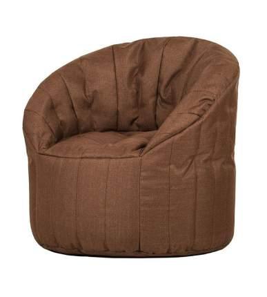 Кресло бескаркасное Папа Пуф Club Chair Chocolate, размер XL, рогожка, коричневый