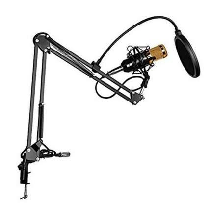 Микрофон 2emarket BM 800 Black/Gold