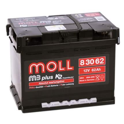 Аккумулятор MOLL M3plus 62R 600A 242x175x190 83062