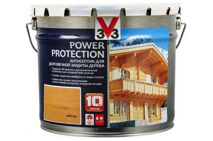 V33 Power Protection антисептик для долговечной защиты дерева 9 л, Цвет орегон