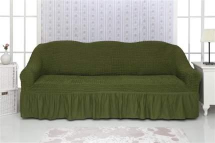 """Чехол на трехместный диван с оборкой CONCORDIA """"Triple sofa"""", цвет: зеленый"""