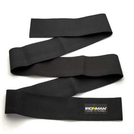 Страховка атлетическая IRONMAN для колена, 2 метра (Супер жесткий)