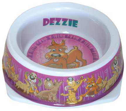Одинарная миска для собак DEZZIE, пластик, разноцветный, 0.15 л