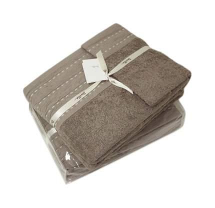 Банное полотенце, полотенце универсальное Devilla palma коричневый