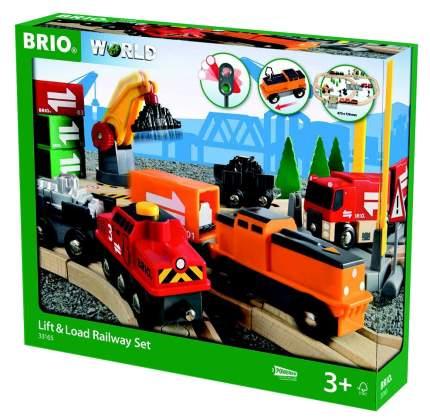Подарочный Набор Brio Набор с подъемниками, переездами, грузами и поездом 33165