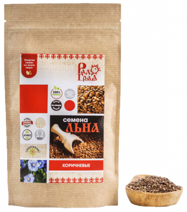 Семена льна РадоГрад коричневые 400 г