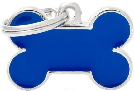 Адресник My Family Basic Handmade в форме косточки для собак (2,5 см, Синий)