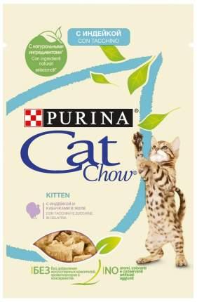 Влажный корм для котят Cat Chow с индейкой и кабачками в желе, 85 г