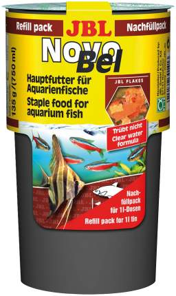 Корм для рыб JBL NovoBel, хлопья, 750 мл