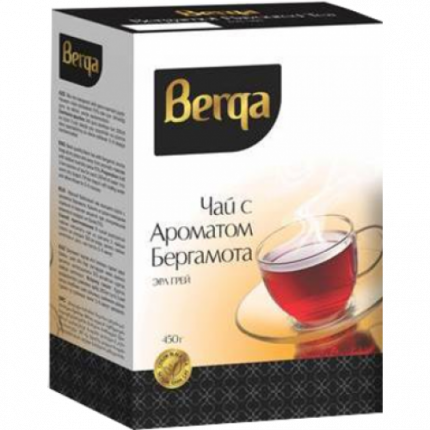 Чай черный листовой Азерчай berqa с бергамотом 450 г