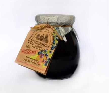 Томленая ягода Столбушино черника без сахара 230 мл