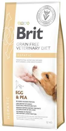 Сухой корм для собак Brit Veterinary Diet Hepatic, при печеночной недостаточности, 12кг