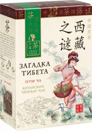 Чай черный Green Panda загадка Тибета пуэр ча 100 г