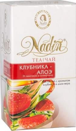 Чай белый Nadin с ароматом клубники и алоэ-вера 25 пакетиков